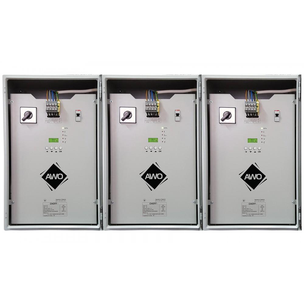 Фото - Трифазний стабілізатор напруги Прочан Awattom СНТПТ IP56 82,5 кВт (3x27,5)  2